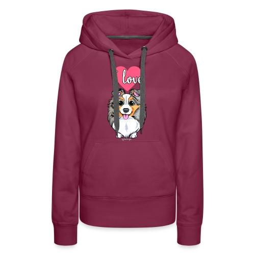 Sheltie Dog Love 3 - Women's Premium Hoodie