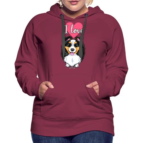 Sheltie Dog Love - Naisten premium-huppari