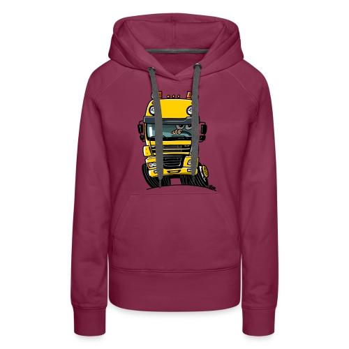 0810 D truck CF geel - Vrouwen Premium hoodie