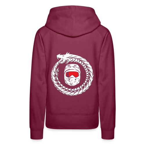 Schrift + Logo weiß - Frauen Premium Hoodie