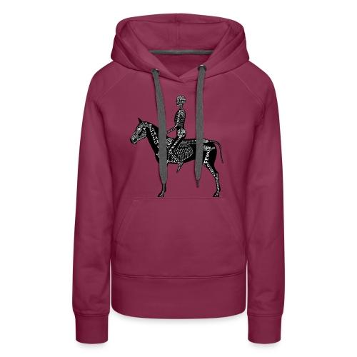 Reiter-Skelett - Sweat-shirt à capuche Premium pour femmes