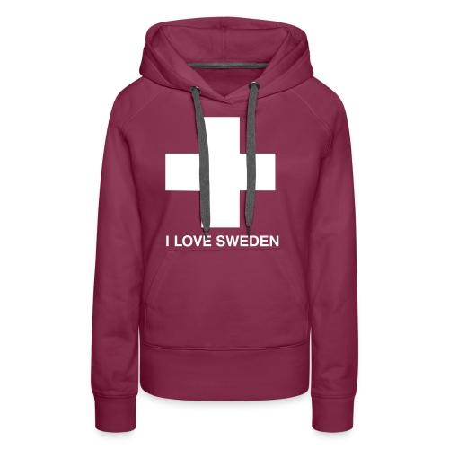 I LOVE SWEDEN - Frauen Premium Hoodie