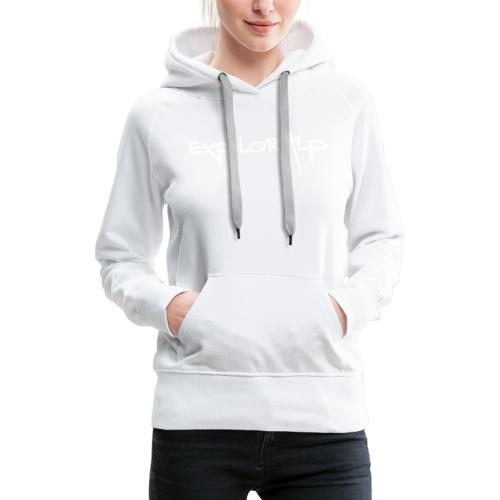 exploralp logo e testo - Women's Premium Hoodie