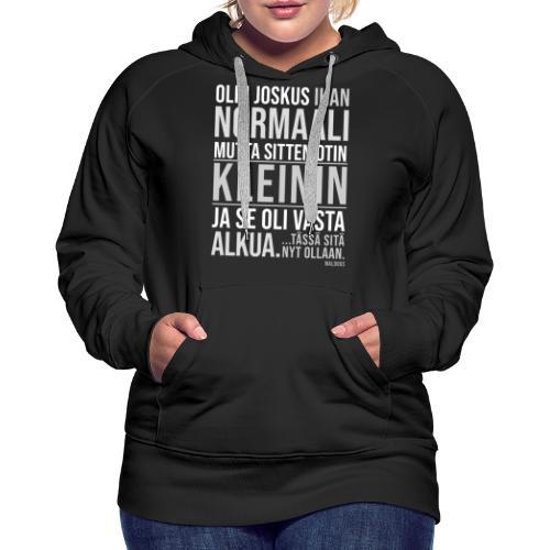 Vasta Alkua Kleini - Naisten premium-huppari