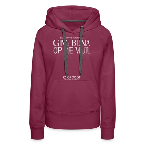 gingbijnaopmemuil - Vrouwen Premium hoodie