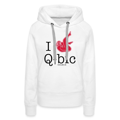 I Love Q-bic - Frauen Premium Hoodie