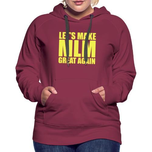 LETS MAKE MLM GREAT AGAIN - YELLOW VERSION - Sweat-shirt à capuche Premium pour femmes
