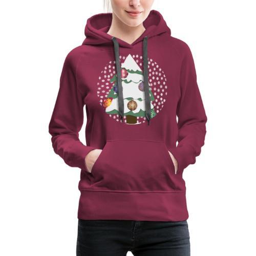 Christmas tree in snowstorm - Women's Premium Hoodie