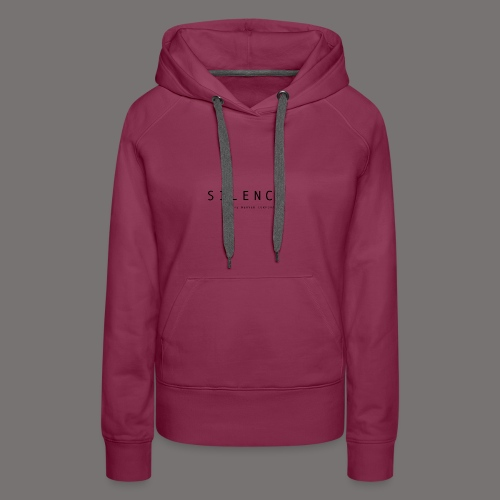 Silence text and corp pos 01 - Women's Premium Hoodie