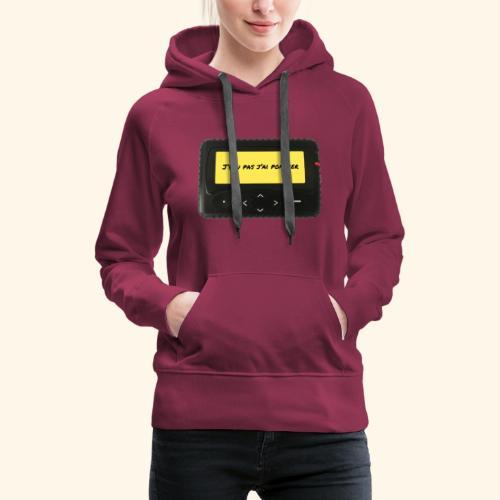 j'peu pas j'ai pompier - Sweat-shirt à capuche Premium pour femmes