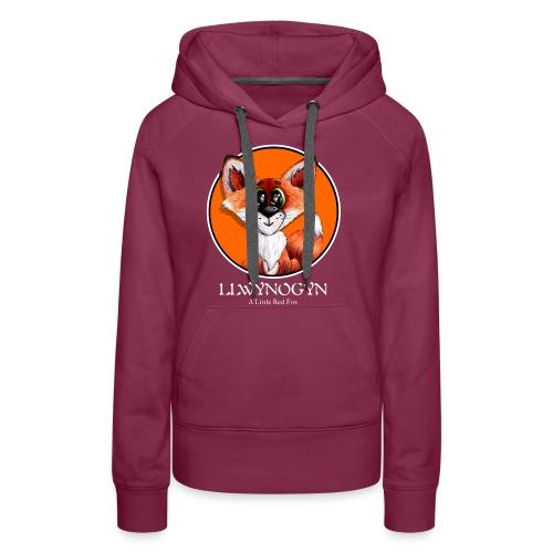 llwynogyn - a little red fox (white) - Naisten premium-huppari