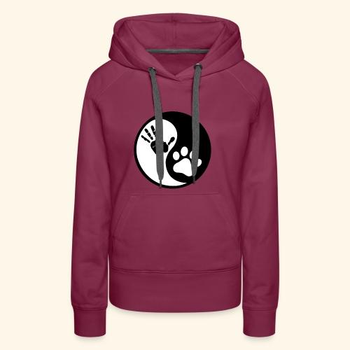 Hunde Yin Yang T-Shirt - Frauen Premium Hoodie
