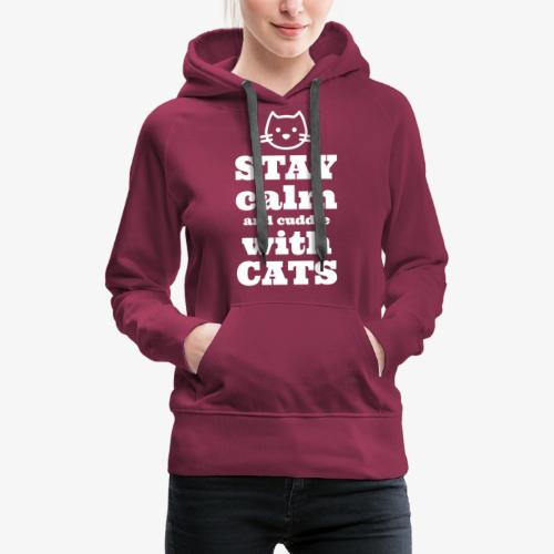 Calm Cuddle Cats - Naisten premium-huppari