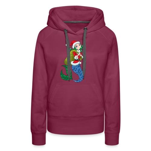 Meerjungfrau Weihnachtsmann Weihnachten Geschenk - Frauen Premium Hoodie