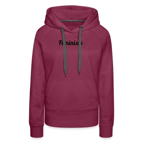Feminism - Sudadera con capucha premium para mujer