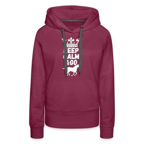 Keep Calm & Go Riding Pferde Reitsport Hoodie - Frauen Premium Hoodie