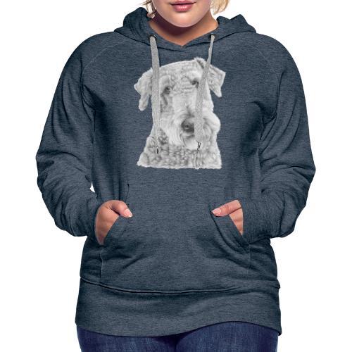 airedale terrier - Dame Premium hættetrøje