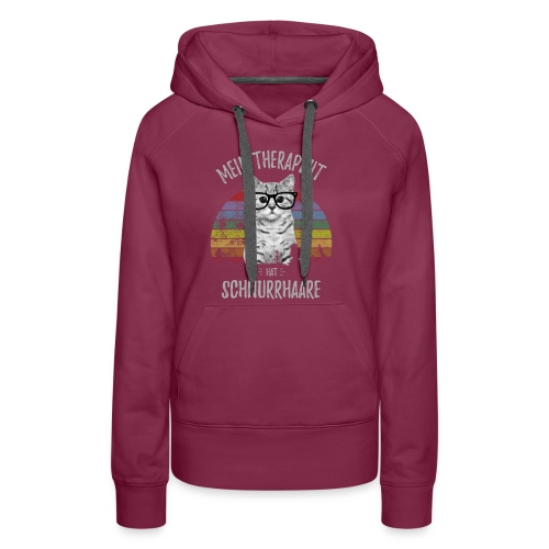 Vorschau: Therapeut Katze - Frauen Premium Hoodie