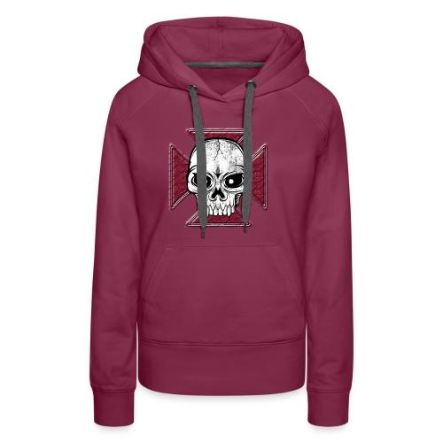 20-07 Iron Cross Skull, pääkallo tekstiilit ym. - Naisten premium-huppari