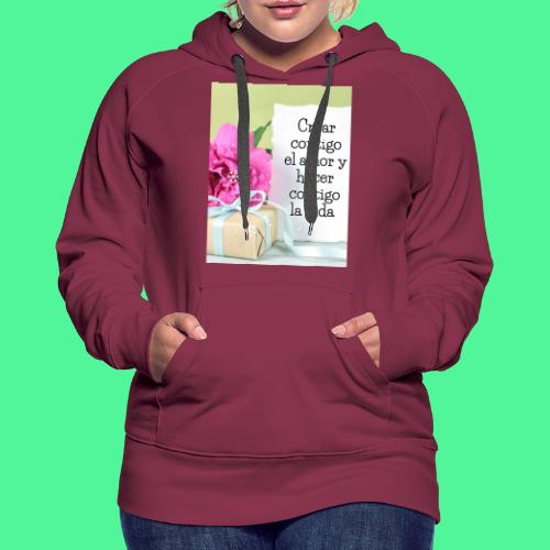 CREAR CONTIGO EL. AMOR - Sudadera con capucha premium para mujer