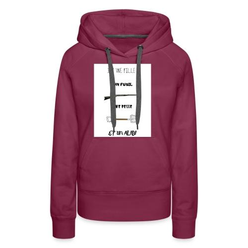 T-shirt imprimé J'ai une fille - Sweat-shirt à capuche Premium pour femmes
