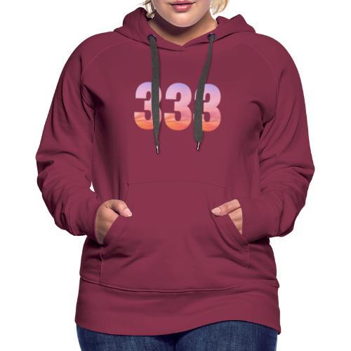 333 vous étes entouré de maitres ascensionnés - Sweat-shirt à capuche Premium pour femmes
