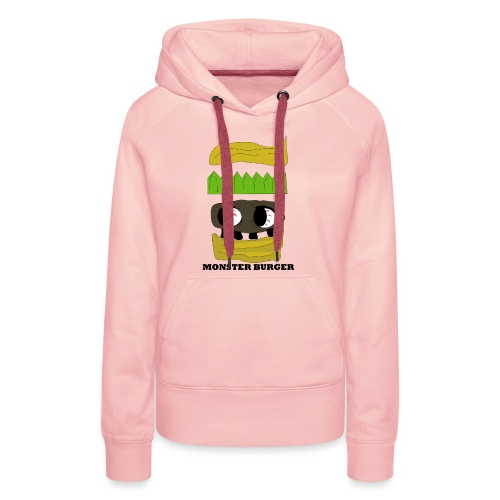 MONSTER BURGER - Frauen Premium Hoodie