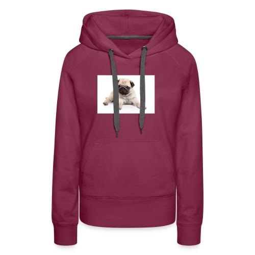mopshond afdruk/print - Vrouwen Premium hoodie