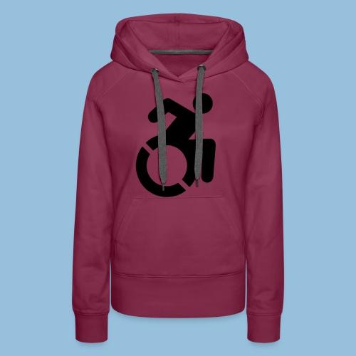 New WheelChair Logo 001 - Vrouwen Premium hoodie