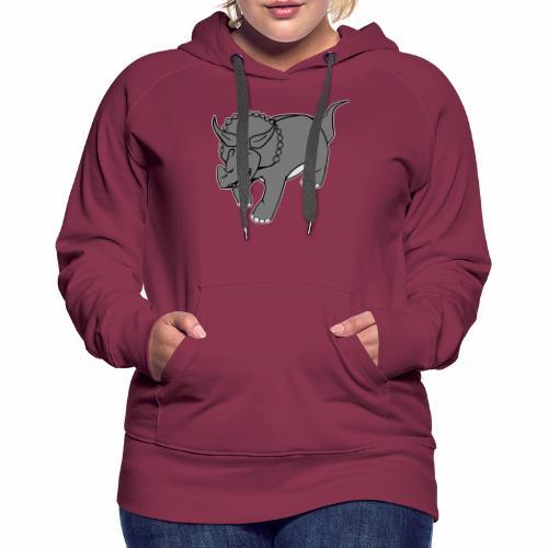 Triceratops - Sweat-shirt à capuche Premium pour femmes