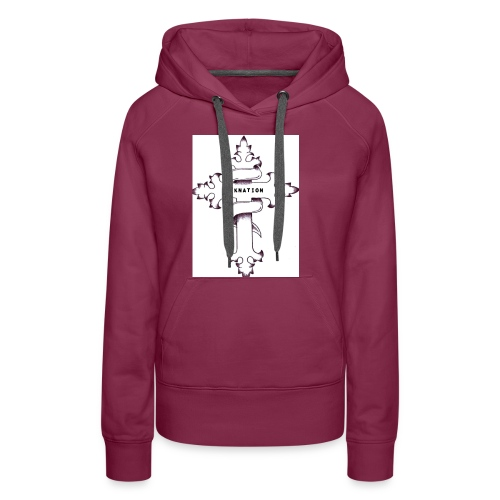 nyknation cross - Sweat-shirt à capuche Premium pour femmes