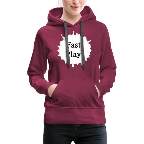 Fast play weiß - Frauen Premium Hoodie