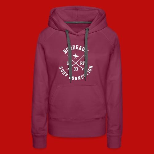Logo BSC_ Blanc - Sweat-shirt à capuche Premium pour femmes