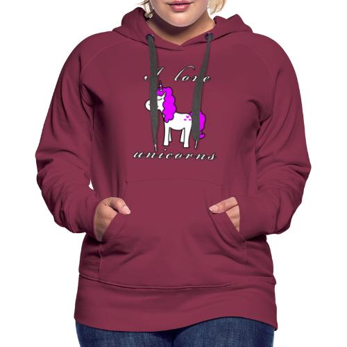 Einhorn schwarz - Frauen Premium Hoodie