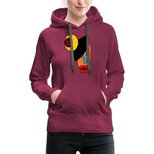 Art africain - Sweat-shirt à capuche Premium pour femmes