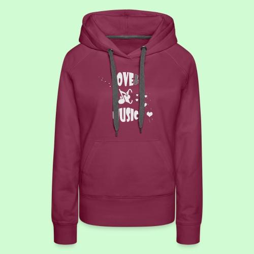 Love & Music - Vrouwen Premium hoodie