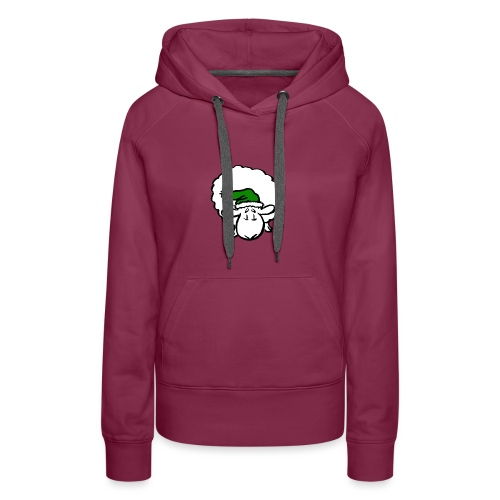 Santa Sheep (green) - Women's Premium Hoodie