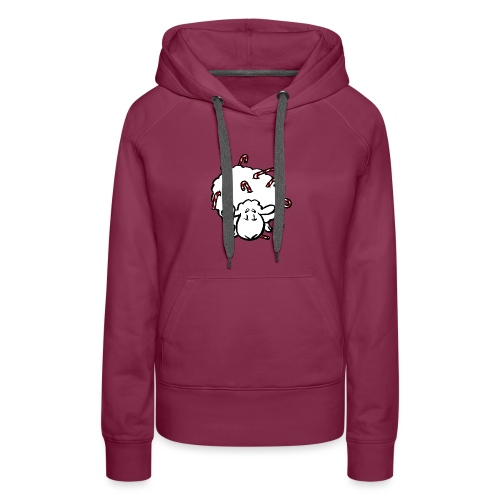 Candy Cane Sheep - Frauen Premium Hoodie