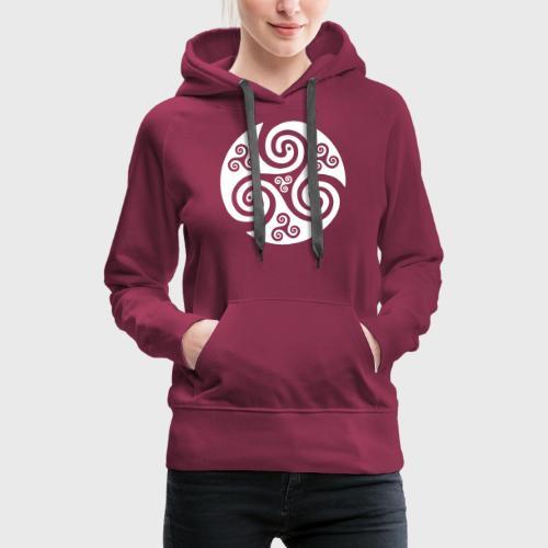Triskel celtique - Sweat-shirt à capuche Premium pour femmes