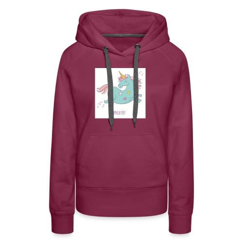 licorne-011 - Sweat-shirt à capuche Premium pour femmes