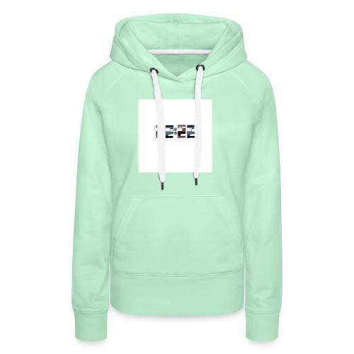 22:22 buttons - Vrouwen Premium hoodie