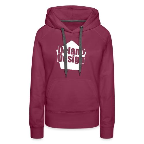 DelanoDesign - Logo Wit - Vrouwen Premium hoodie