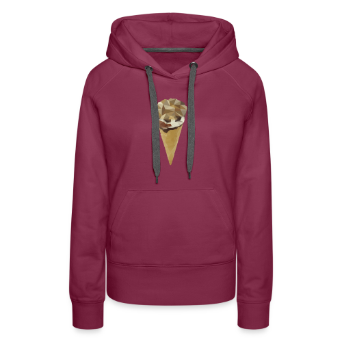 Low-poly_Ice_Cream - Vrouwen Premium hoodie