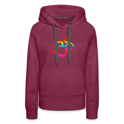 Om Mantra Symbol Yoga Regenbogen - Frauen Premium Hoodie