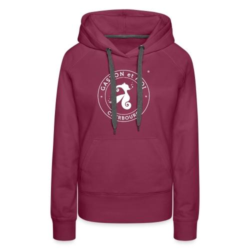 Gaston et Moi Cherbourg Blanc - Sweat-shirt à capuche Premium pour femmes
