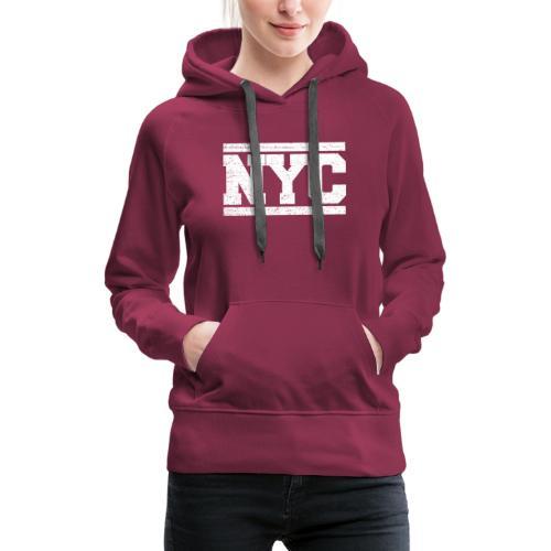 NYC - Sudadera con capucha premium para mujer