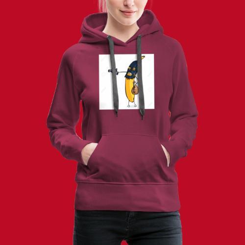 RøverBananen - Dame Premium hættetrøje