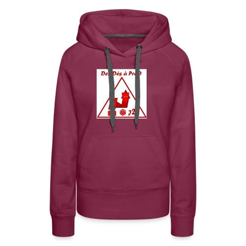 Ddaprod big 2018 - Sweat-shirt à capuche Premium pour femmes