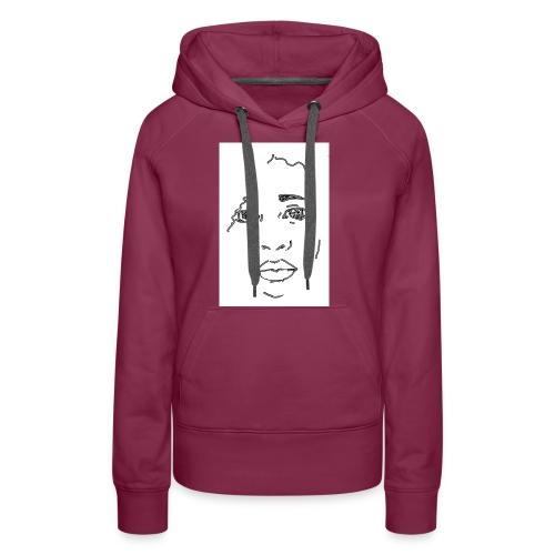 visage - Sweat-shirt à capuche Premium pour femmes