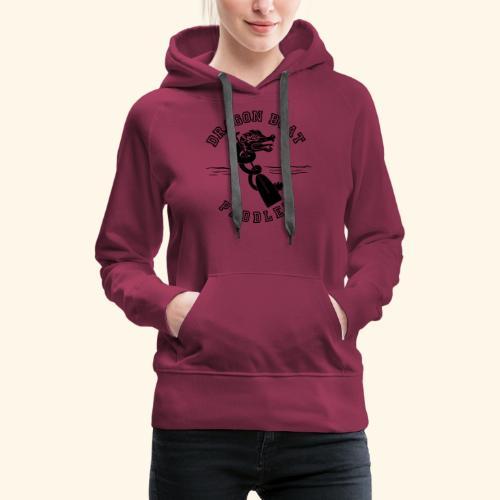 DragonPaddler - Felpa con cappuccio premium da donna